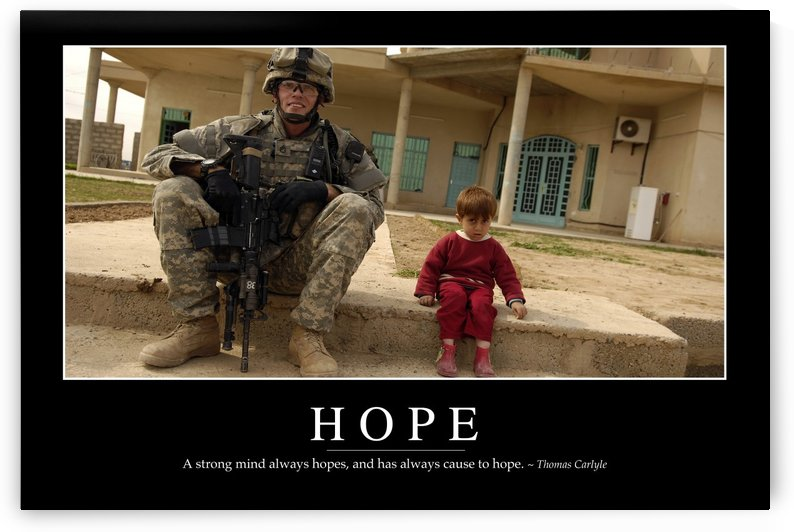 Hope: Inspirational Quote and Motivational Poster by StocktrekImages