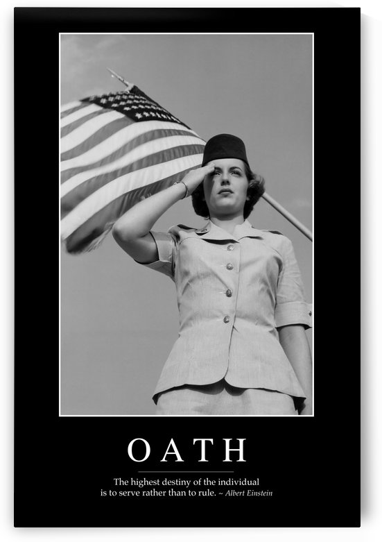 Oath: Inspirational Quote and Motivational Poster by StocktrekImages