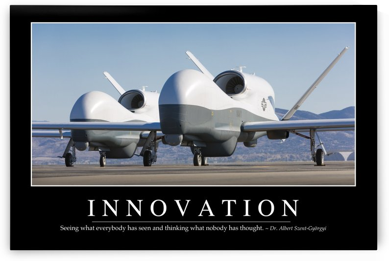 Innovation: Inspirational Quote and Motivational Poster by StocktrekImages