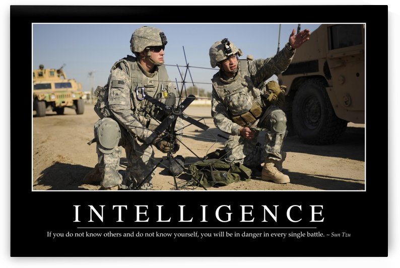 Intelligence: Inspirational Quote and Motivational Poster by StocktrekImages