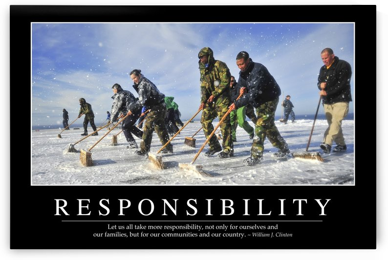 Responsibility: Inspirational Quote and Motivational Poster by StocktrekImages