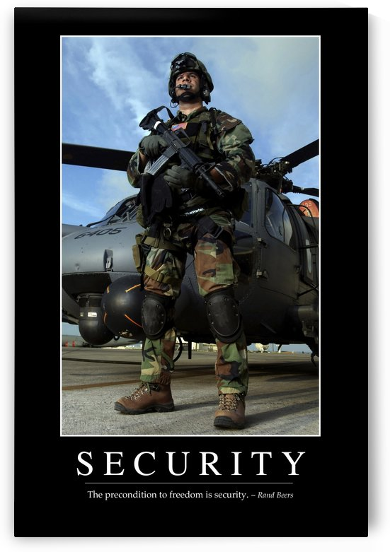 Security: Inspirational Quote and Motivational Poster by StocktrekImages