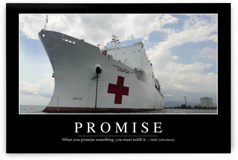 Promise: Inspirational Quote and Motivational Poster by StocktrekImages