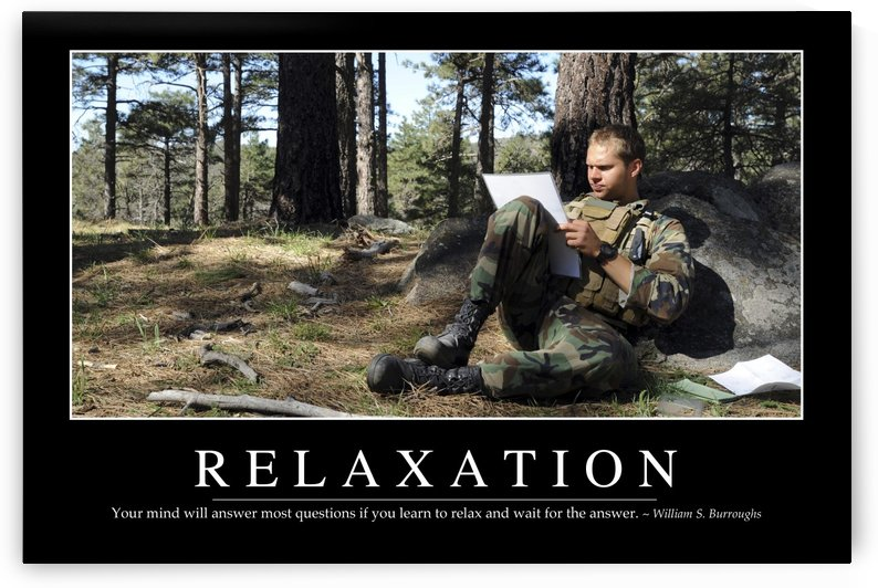 Relaxation: Inspirational Quote and Motivational Poster by StocktrekImages