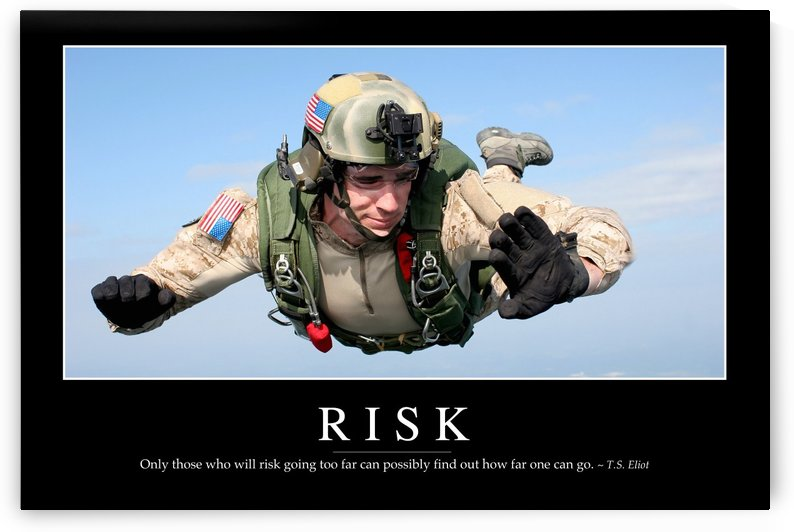 Risk: Inspirational Quote and Motivational Poster by StocktrekImages