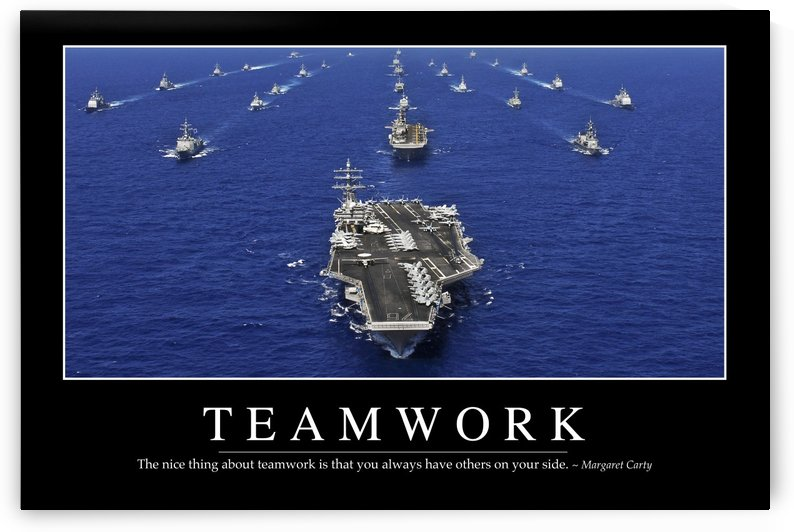 Teamwork: Inspirational Quote and Motivational Poster by StocktrekImages