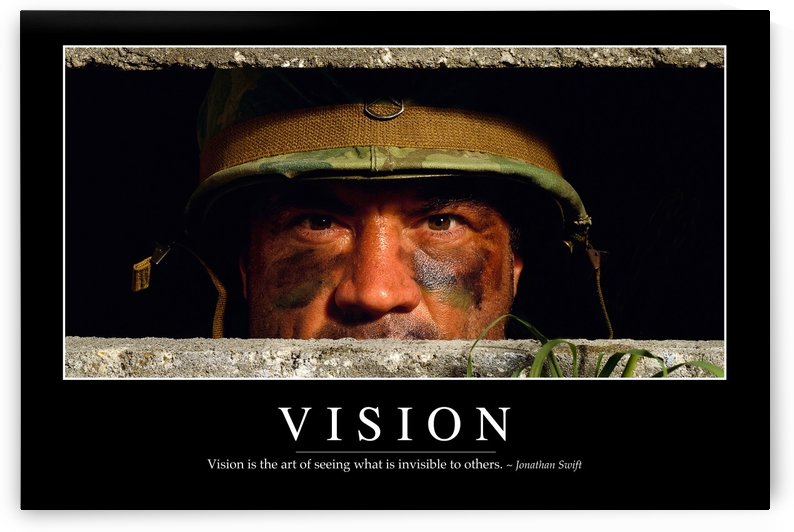 Vision: Inspirational Quote and Motivational Poster by StocktrekImages