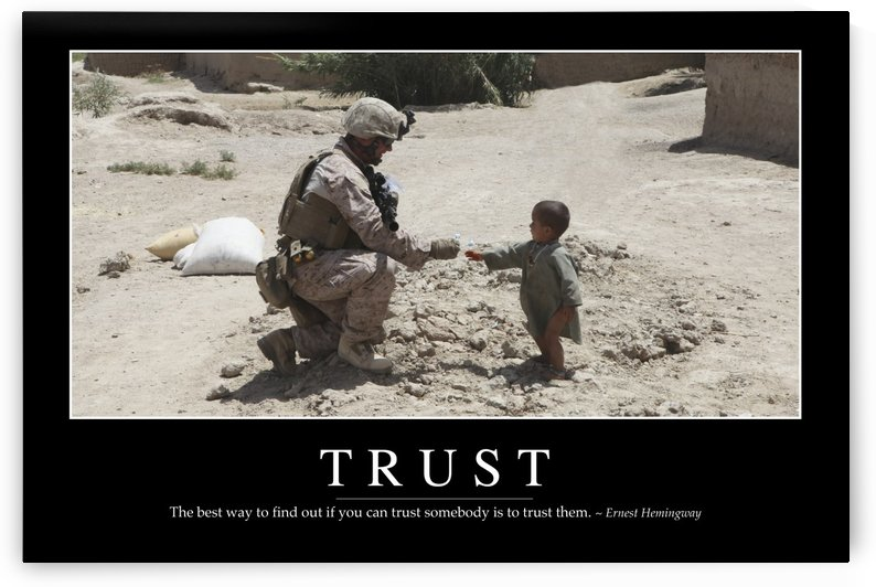 Trust: Inspirational Quote and Motivational Poster by StocktrekImages