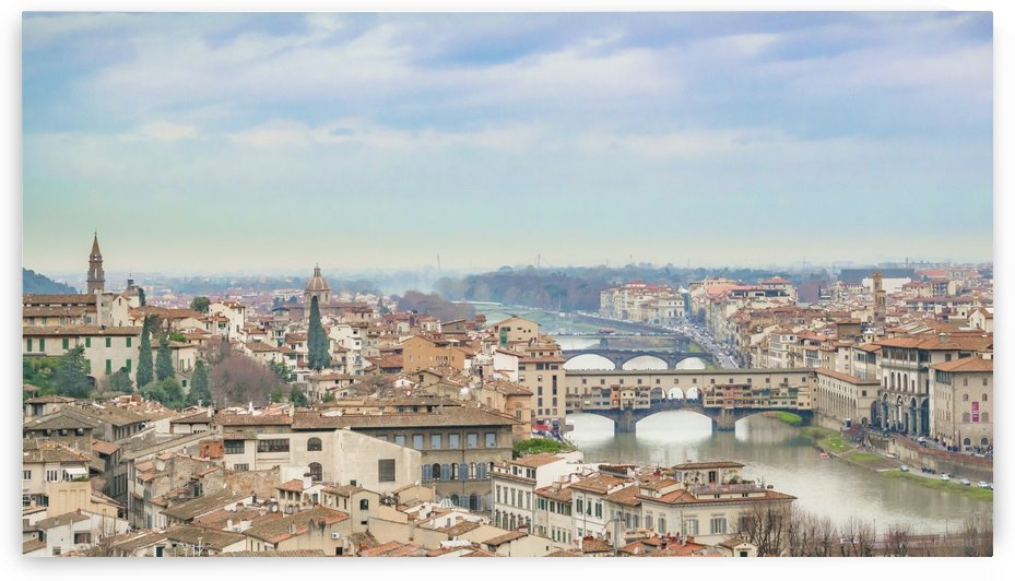 Aerial View of Historic Center of Florence Italy by Daniel Ferreia Leites Ciccarino
