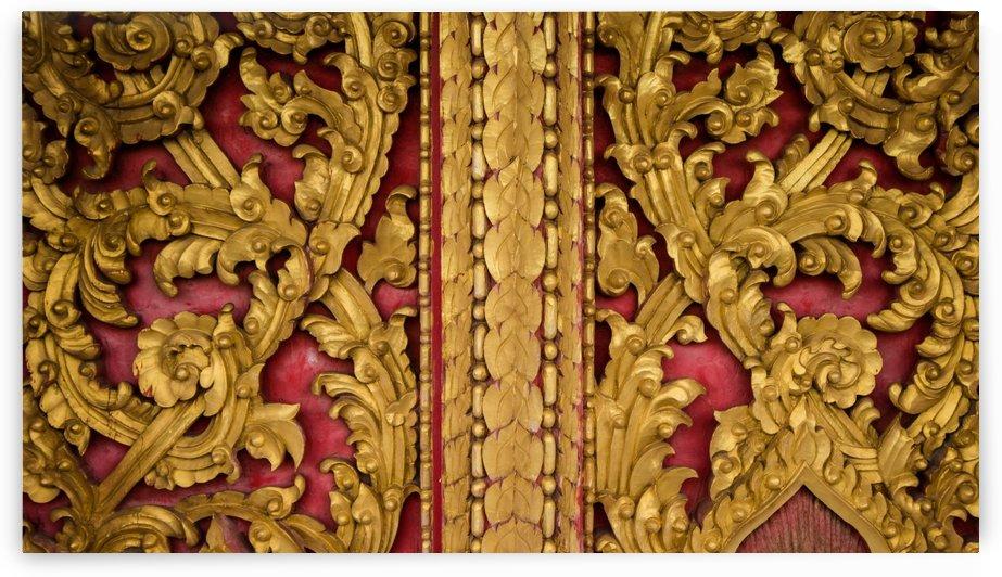 Golden wood carvings by Krit of Studio OMG
