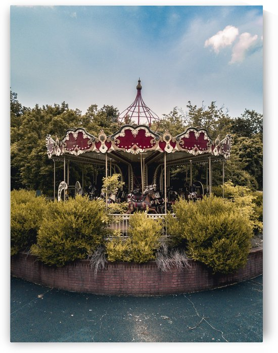 Abandoned Theme Park Merry Go Round by Steve Ronin