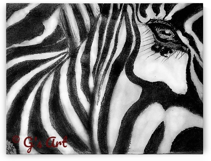 zebra eye by Gerald Botha