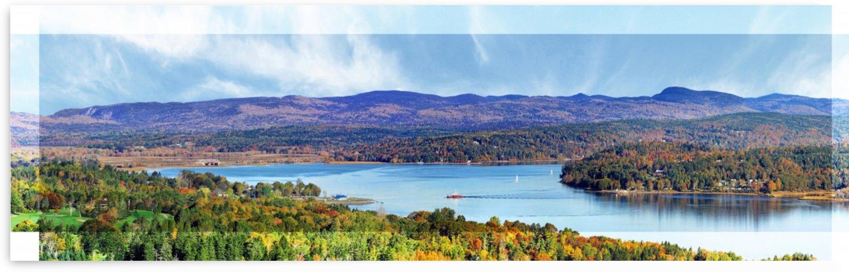 Grand Bay-Westfield New Brunswick in Autumn 48 by 12 by Doug McQuinn