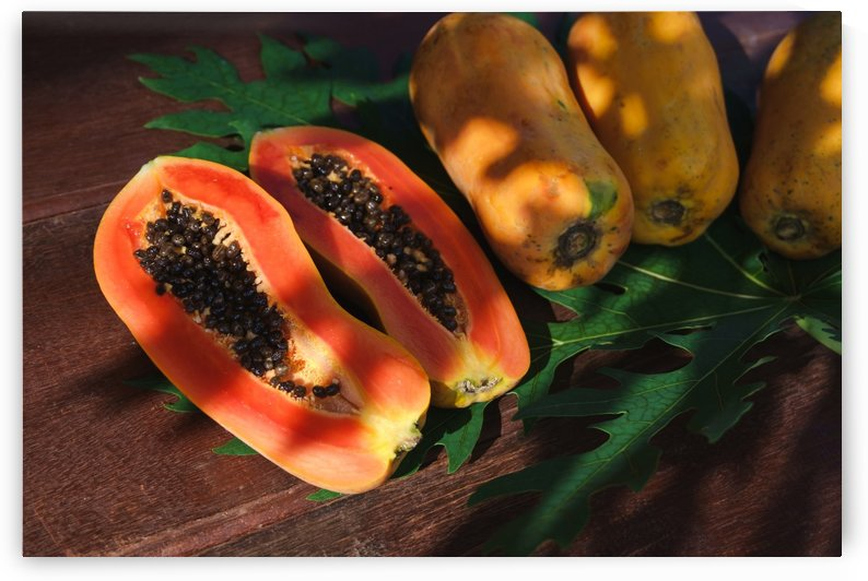 Ripe papaya by Krit of Studio OMG