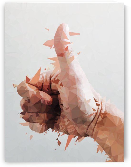splash geometric thumbs up abstract background by TimmyLA