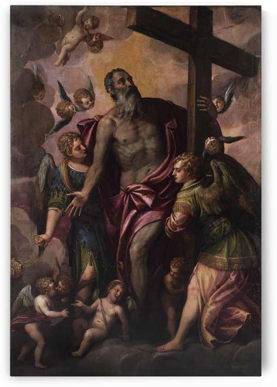 God the Father holding the cross of his Son by Paolo Veronese