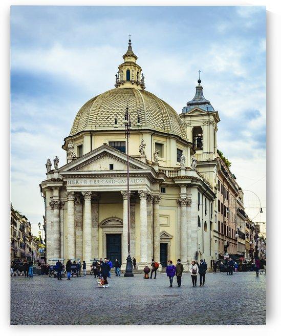 Santa Maria in Montesanto Church Piazza del Popolo, Rome by Daniel Ferreia Leites Ciccarino