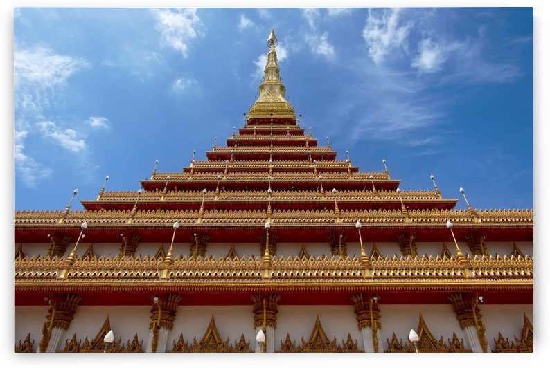 Golden pagoda in Thai temple by Krit of Studio OMG