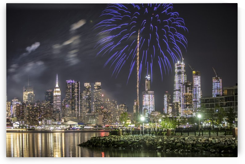 Fireworks over NYC by Kaye