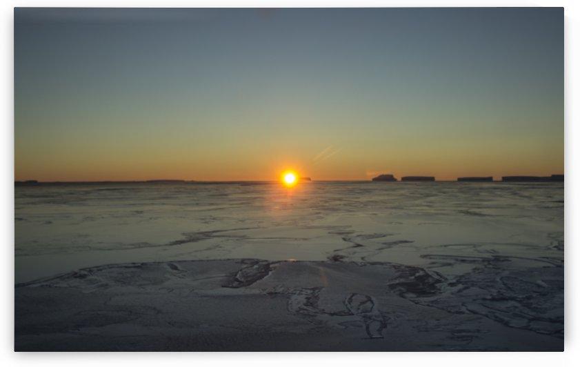 Frozen Desert Sunset by Peter Kaple