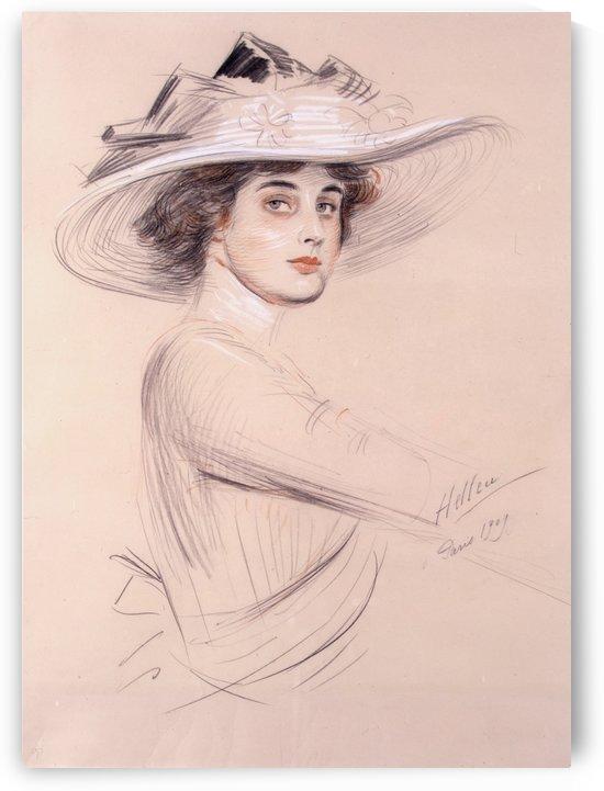 Portrait Of A Woman by Paul Cesar Helleu