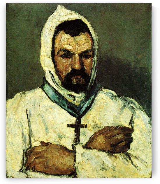Portrat des Onkel Dominique als Monch by Paul Cezanne