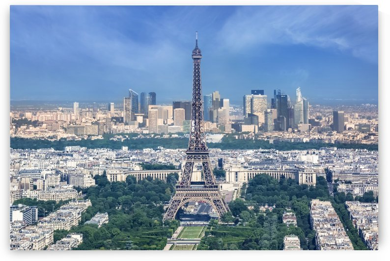Paris Skyline  by Melanie Viola