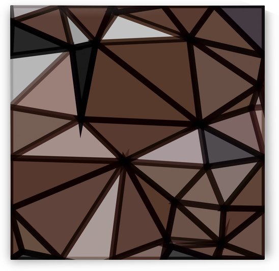 geometric triangle polygon pattern abstract in brown and black by TimmyLA