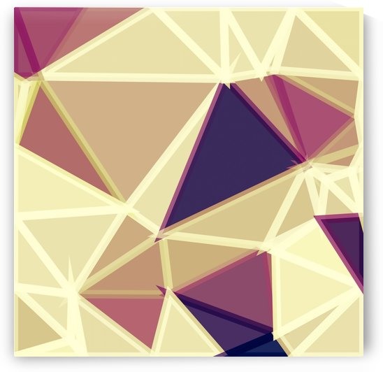 geometric triangle polygon pattern abstract in brown and red by TimmyLA