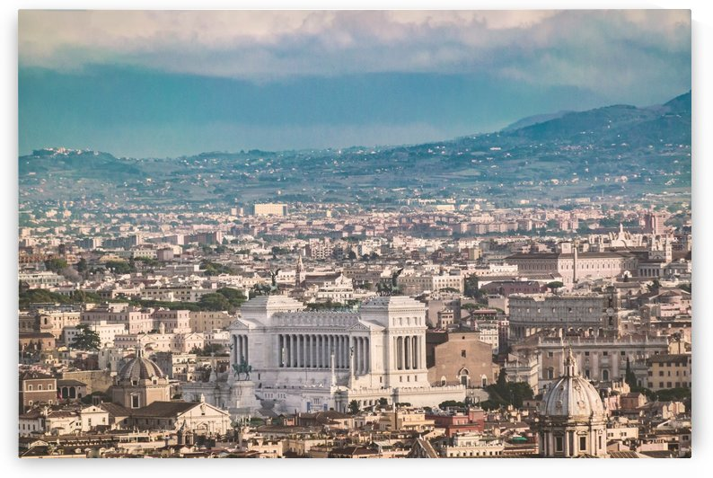 Rome Aerial View at Saint Peter Basilica Viewpoint by Daniel Ferreia Leites Ciccarino