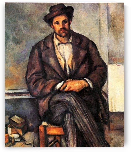 Sitzender Bauer by Paul Cezanne