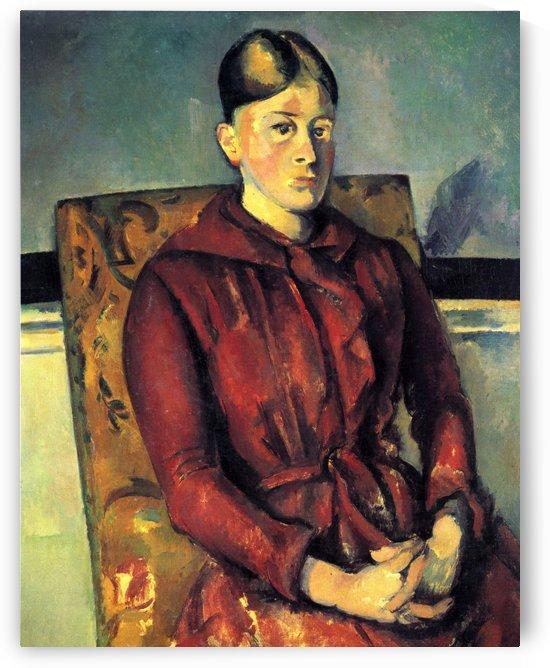 Madame Cezanne dans un fauteuil jaune by Paul Cezanne