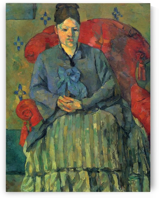 Portrat der Mme Cezanne in rotem Lehnstuhl by Paul Cezanne