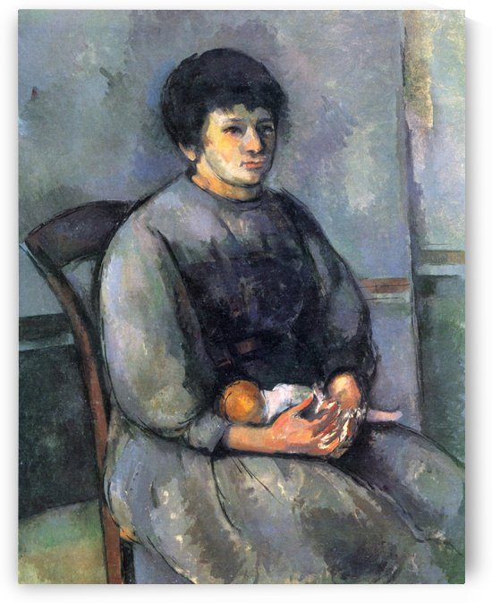 Junges Madchen mit Puppe by Paul Cezanne