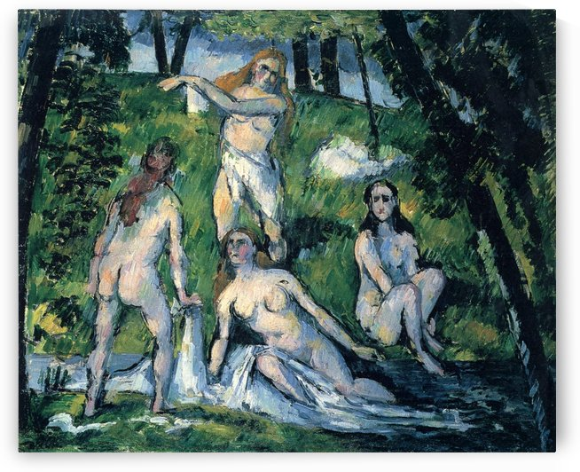 Vier Badende by Paul Cezanne