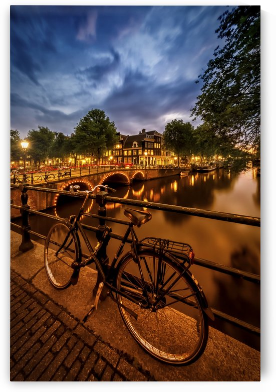 AMSTERDAM Evening impression from Brouwersgracht  by Melanie Viola