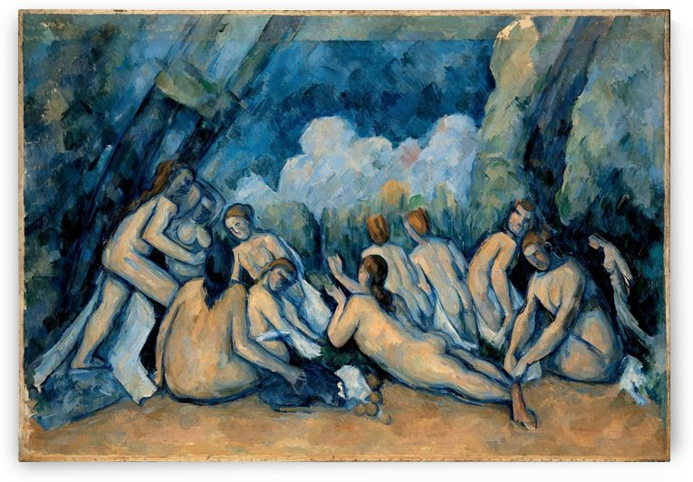 Die grosen Badenden by Paul Cezanne