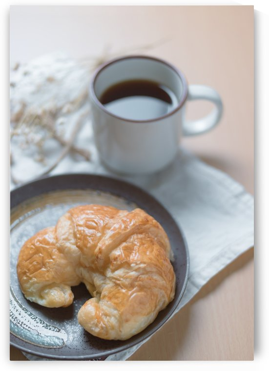 Croissant with coffee by Krit of Studio OMG