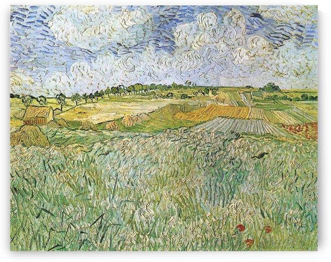 Auvers with rain clouds by Van Gogh by Van Gogh