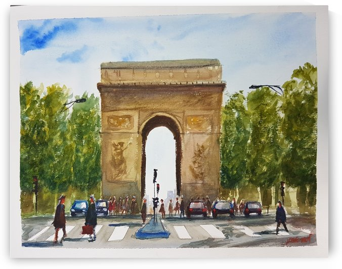The Arc de Triomphe Paris France by Lior Ohayon