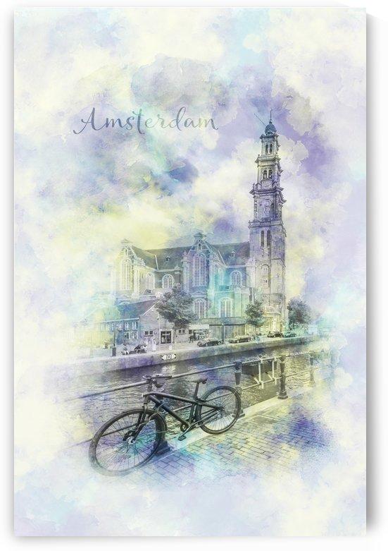 AMSTERDAM Prinsengracht watercolor by Melanie Viola