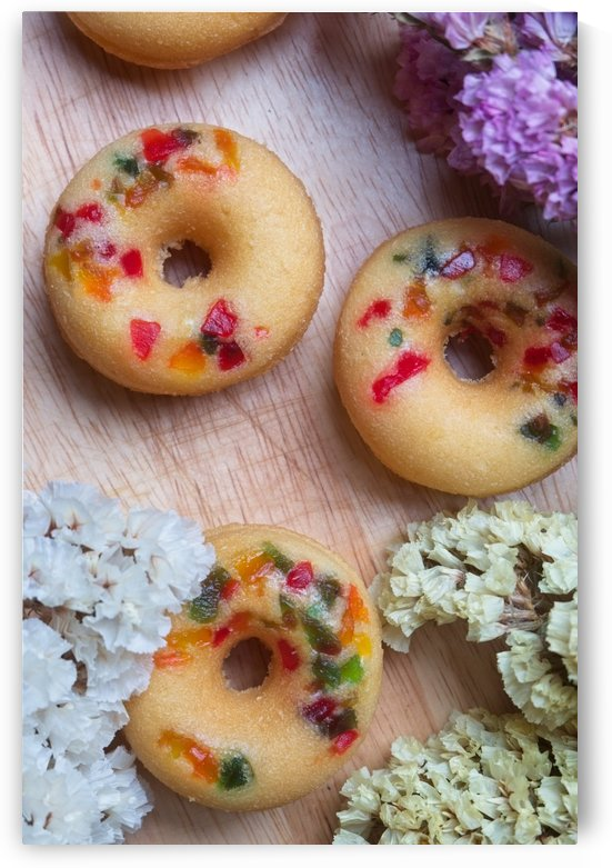 Fruity donuts with sweet floral by Krit of Studio OMG