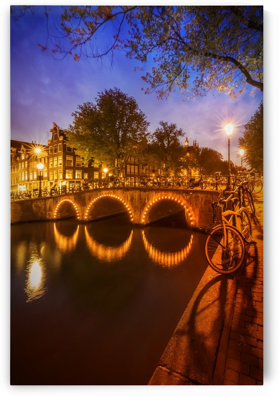 AMSTERDAM Idyllic nightscape from Keizersgracht  by Melanie Viola