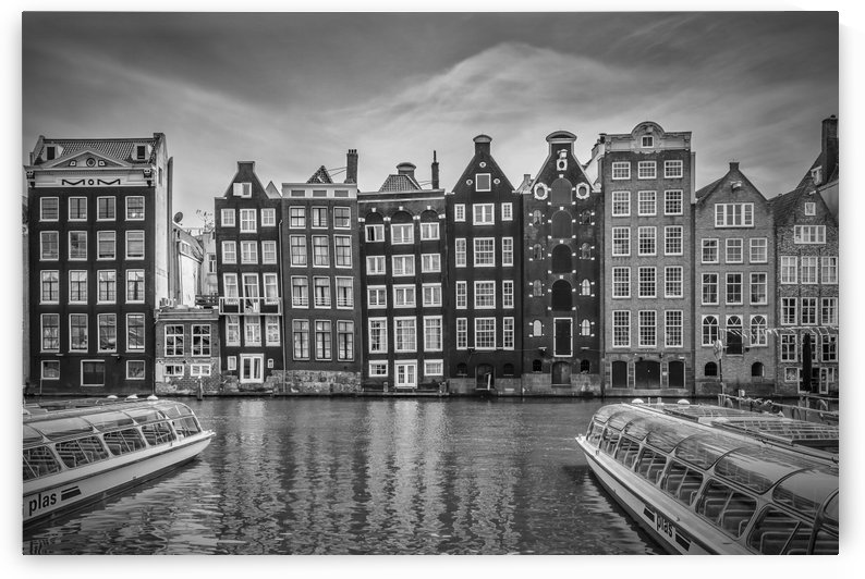 AMSTERDAM Damrak and dancing houses by Melanie Viola