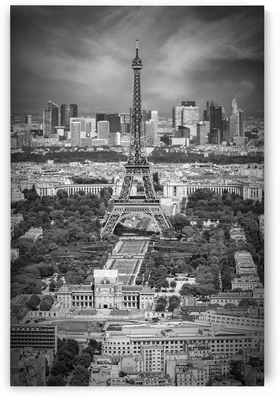 Paris Skyline   Monochrome  by Melanie Viola