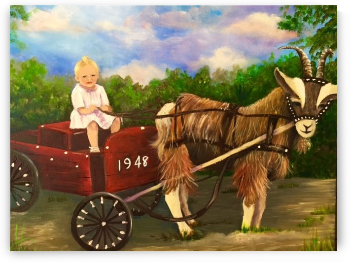 Brandon Baby Drives Through The Village by Elizabeth J White