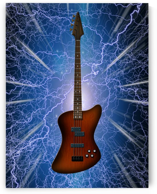 Electric Bass Guitar by Bruce Rolff