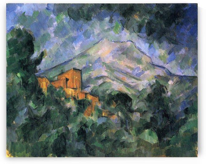 Montagne Sainte-Victoire und Chateau Noir by Paul Cezanne