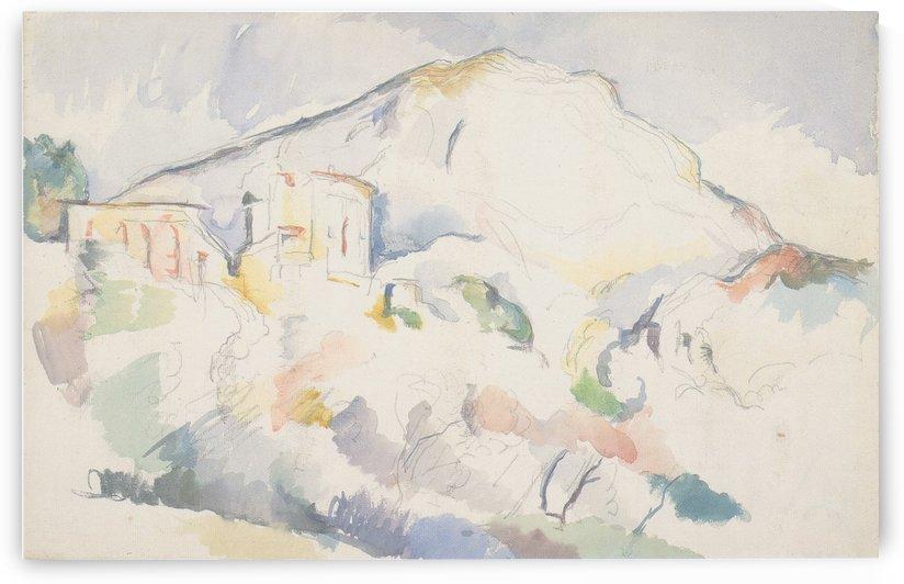 Das Chateau Noir und das Gebirge Sainte-Vitoire by Paul Cezanne