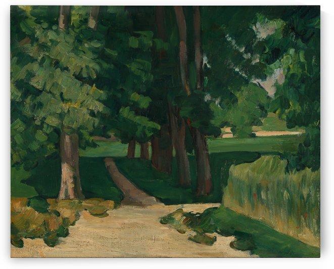Allee im Jas de Bouffan by Paul Cezanne